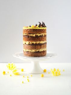 Banana Nut Crunch Layer Cake
