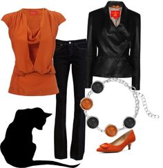 """Black Cat"" by jewelpop on Polyvore"