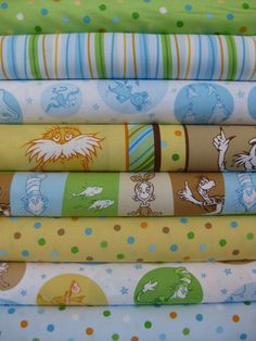 Love Dr. Seuss! Robert Kaufman Celebrate Seuss, Adventure Dr Seuss Fabric, Robert Kaufman, Soft Blankets, Modern Fabric, Craft Projects, Delicate, Textiles, Quilts, Sewing