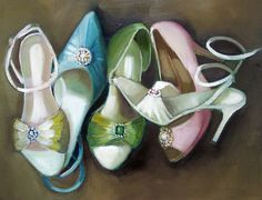 """""""Candy Coloured Shoes"""" by Janet Hill"""