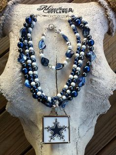 Dallas Cowboys necklace & bracelet