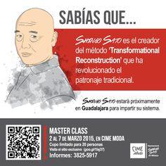 SABÍAS QUE... Shingo Sato es el creador del método 'Transformational Reconstruction' que ha revolucionado el patronaje tradicional. www.cimemoda.com