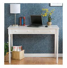 Holly & Martin™ White 2-Drawer Parker Writing Desk