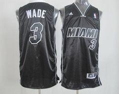 Revolution 30 Heat  3 Dwyane Wade Black White Stitched NBA Jersey Dwyane  Wade Jersey f9ecd0301