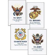Military Cross Stitches - Leslee Martz, you need these!