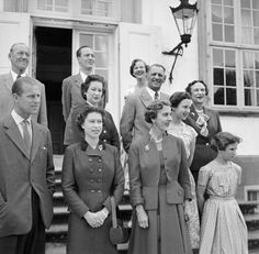 1956 : Queen Elizabeth and Prince Philip meet the Danish Royal family