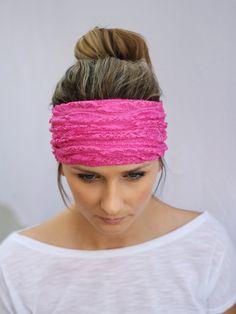 Lace Jersey Headband,Head Wrap,Fabric Hair Wrap, Fashion Hair Accessories, Printed Jersey Turband