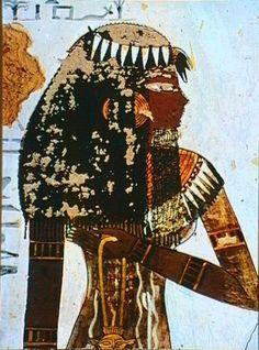 Dier El Medineh: Tomb of Sennedjem: Sennedjem & his wife working in ....