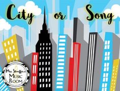 City or Song Music Game by Mrs Stouffer's Music Room | Teachers Pay Teachers
