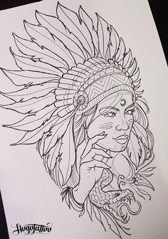 Tattoo Design Drawings, Tattoo Sleeve Designs, Art Drawings Sketches, Tattoo Sketches, Native American Tattoos, Native Tattoos, Tattoo Outline, Lion Tattoo, Unique Half Sleeve Tattoos