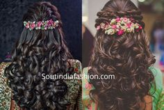 The best south indian bridal hairstyles handpicked for you to sail through your wedding day. wedding hairstyles for all face shapes South Indian Wedding Hairstyles, Bridal Hairstyle Indian Wedding, Engagement Hairstyles, Bridal Hairdo, Short Wedding Hair, Wedding Hairstyles For Long Hair, Indian Hairstyles, Short Hair, Wedding Updo
