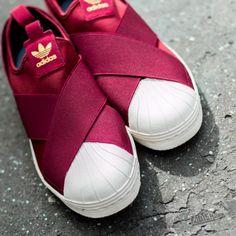adidas superstar slip on red