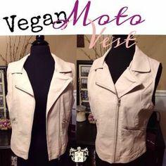 I just added this to my closet on Poshmark: NWT Tan Vegan leather Rocker Chic Moto Vest. Price: $35 Size: M