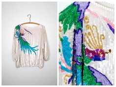 VTG Art Deco Sequined Blouse by Judith Ann Creations // by braxae