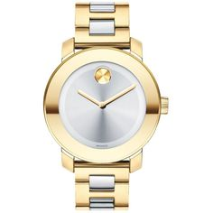 Movado Watch, Swiss Bold Medium Two Tone Stainless Steel Bracelet 36mm 3600129 (134.480 HUF) found on Polyvore