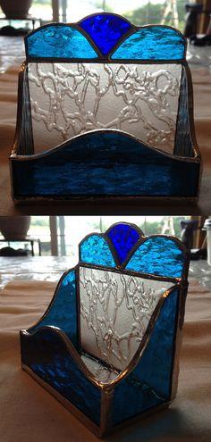 Tarjetero de vidrio hecho a mano por QTSG en Etsy