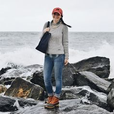 Fall style. Carly looks great in her #LLBean #BeanBoots via The College Prepster blog #NYC