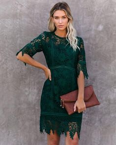Lace Dress Styles, Green Lace Dresses, Fall Dresses, Sleeveless Dresses, Sleeve Dresses, Fall Wedding Outfits, Wedding Attire, October Wedding Guest Dress, What To Wear To Fall Wedding Guest