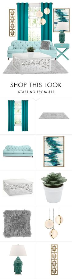 """""""teal home"""" by alma202 ❤ liked on Polyvore featuring interior, interiors, interior design, home, home decor, interior decorating, Kate Spade, Frontgate, M&Co and Baroncelli"""