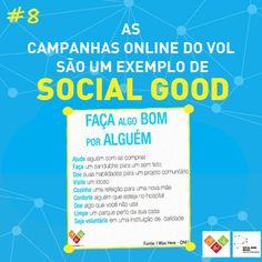 As campanhas online do VOL são um exemplo de social good!