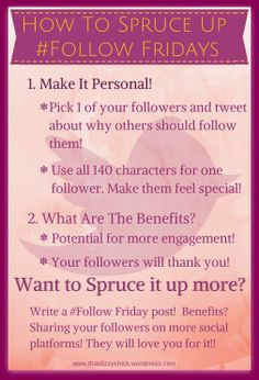 How To Spruce Up #Follow Fridays on Twitter Twitter Tips, Twitter Twitter, Feeling Special, Blogging, Social Media, Tools, Feelings, Learning, Instruments