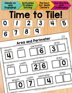 Math tiles for Area and Perimeter.  Excellent problem solving activity that will make your students THINK! $