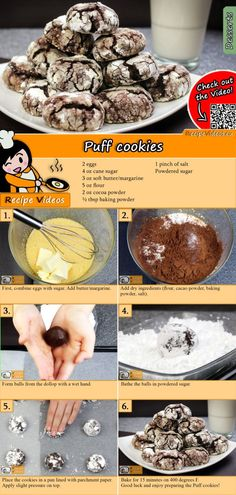 This puffball biscuit recipe couldn& be simpler and is unbeatably delicious. The puffball biscuit recipe video is easy to find using the QR code :] mix cookie chip cookie cookie recipes rezept backen ohne zucker rezepte weihnachten Baking Recipes, Cookie Recipes, Dessert Recipes, Biscuit Recipe Video, Puff Recipe, Cocoa Powder Recipes, Fluffy Biscuits, Hungarian Recipes, Easy Desserts