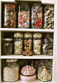 Collections of collections - buttons, dice, doll phones, mini dolls, beads and more buttons
