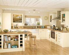 kitchen cream white grey