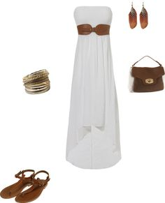 white and brown, created by luzmliriano on Polyvore