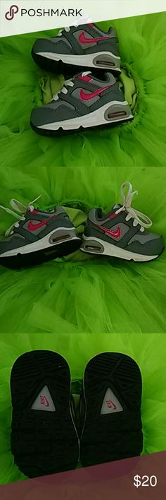 Baby girl Nike Size 3c used condition see pics. Fits small more like a 2 Nike Shoes Sneakers