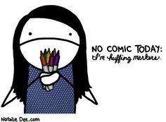 Comic by Natalie Dee: i gotta get my jollies somehow