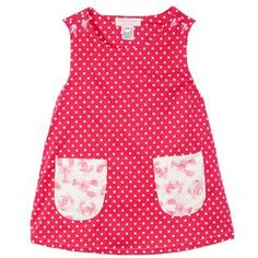 Hot pink polka dot a-line dress with custom crab & lobster fabric pockets. Pink Polka Dots, Polka Dot Top, Crab And Lobster, Embroidered Clothes, Hot Pink, Girls Dresses, Fabric, How To Make