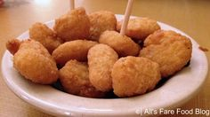 Fried corn nuggets at Sonny's Barbecue (No Recipe)