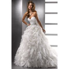 frilly Wedding Dress   You can find beautiful ruffled A-line wedding dresses in many ...