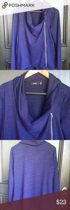 🆕 Apt 9 Knit Zip Jacket Comfortable knit zip front flyaway jacket. Navy blue. Size Large. NWT Apt. 9 Jackets & Coats