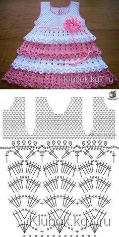 Captivating Crochet a Bodycon Dress Top Ideas. Dazzling Crochet a Bodycon Dress Top Ideas. Crochet Baby Dress Pattern, Baby Dress Patterns, Baby Knitting Patterns, Crochet Patterns, Baby Girl Crochet, Crochet Baby Clothes, Crochet For Kids, Diy Crafts Crochet, Knit Baby Sweaters