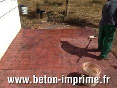 Terrasse en b ton imprim on pinterest health club for Terrasse en beton