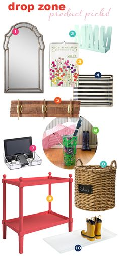 Organize This: Drop Zone! - use the great board and add the gold handles