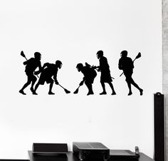 Vinyl Wall Decal Lacrosse Team Players Sports Decoration Stickers Mural (ig4938)