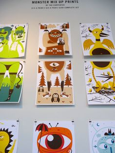monster mix up prints by Tad Carpenter