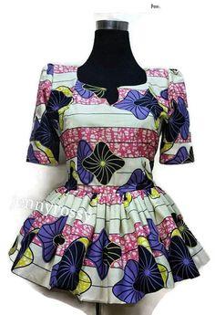 Impression Peplum chemisier africain africaines vêtements haut