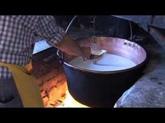 Channel Cheese - Making ricotta over an open fire in Northern Italy~ Published on Apr 6, 2012  Filmed on location in the tiny town of Oira in Piedmont, Alison watches as cheesemaker Remo makes ricotta over an open fire. Alison also checks out the cheese maturation cave downstairs and the historical dairy cooperative records dating back over 100 years.