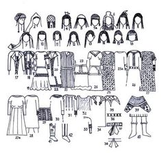 ((SOGDIAN)) female Sogdian clothing (5th-8th cc AD)