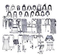((SOGDIAN)) female Sogdian clothing (5th-8th cc AD)