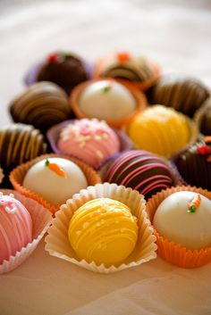 trufas de colores♥ Chocolate