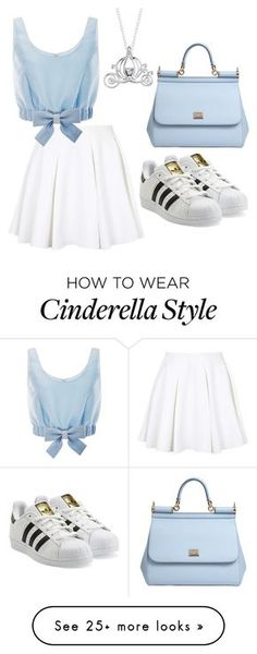 """""""DISNEY PRINSES OOTD ~ cindrella"""" by rosalieve on Polyvore featuring Disney, Topshop, Honor, Dolce&Gabbana and adidas Originals"""