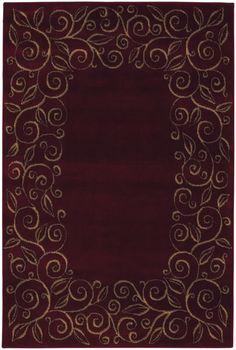 Tiffany Burgundy Ivory Geometric Area Rug Rugs Pinterest And