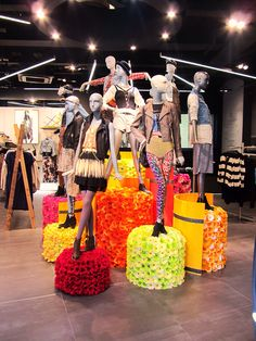 Topshop mannequin styling Knightsbridge