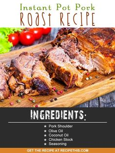 Instant Pot | Instant Pot pork roast recipe from RecipeThis.com
